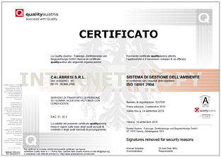 Certification ISO 14001:2004
